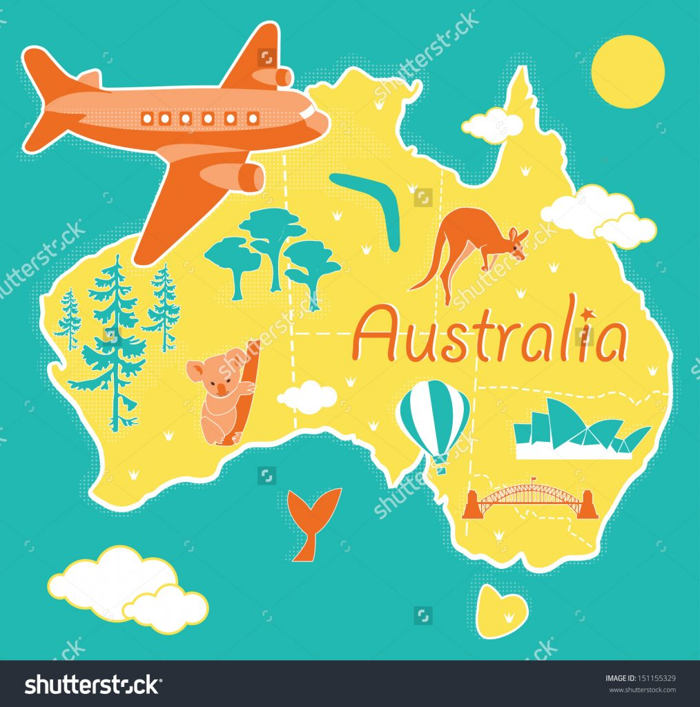 stock-vector-cartoon-map-australia-151155329
